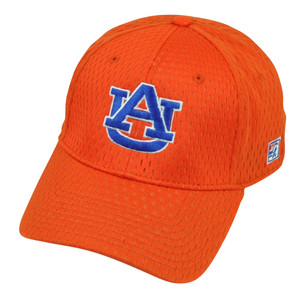 NCAA Auburn Tigers The Game Fitted Hat Cap Size XLarge Orange Stretch Jersey Mesh
