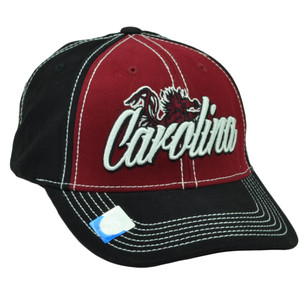 NCAA South Carolina Gamecocks Captivating Headgear  Hat Cap Black Burgundy