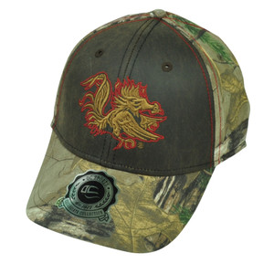 NCAA South Carolina Gamecocks Camouflage Camo  OC Sports Real Tree Hat Cap