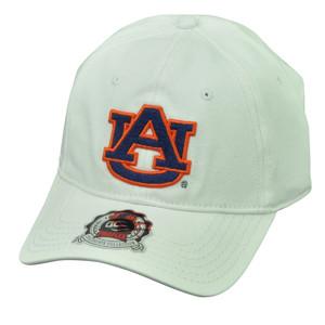 NCAA Auburn Tigers Pro Flex Fit One Size White Stretch Hat Cap Moisture Control