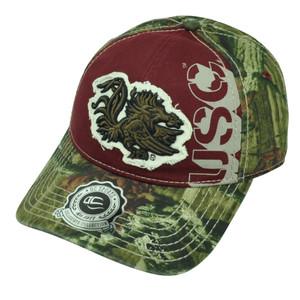NCAA South Carolina Gamecocks Camouflage USC Two Tone  Hat Cap Mossy Oak