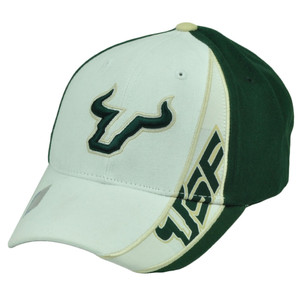 NCAA South Florida Bulls SF Snapback White Green Hat Cap Captivating Headgear