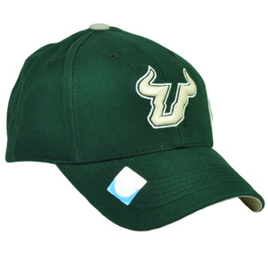 NCAA South Florida Bulls SF Snapback Beige Green Hat Cap Captivating Headgear