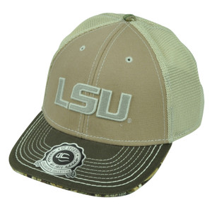 NCAA Louisiana State LSU Tigers Mossy Oak Mesh  Beige Hat Cap Adjustable