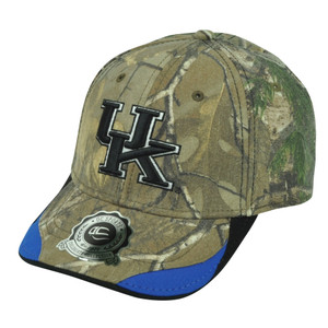 NCAA Kentucky Wildcats Camouflage Camo Clip Buckle Real Tree Hat Cap OC Sports