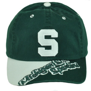 NCAA Michigan State Spartans  Hat Cap Relaxed Slouch Green Garment Wash