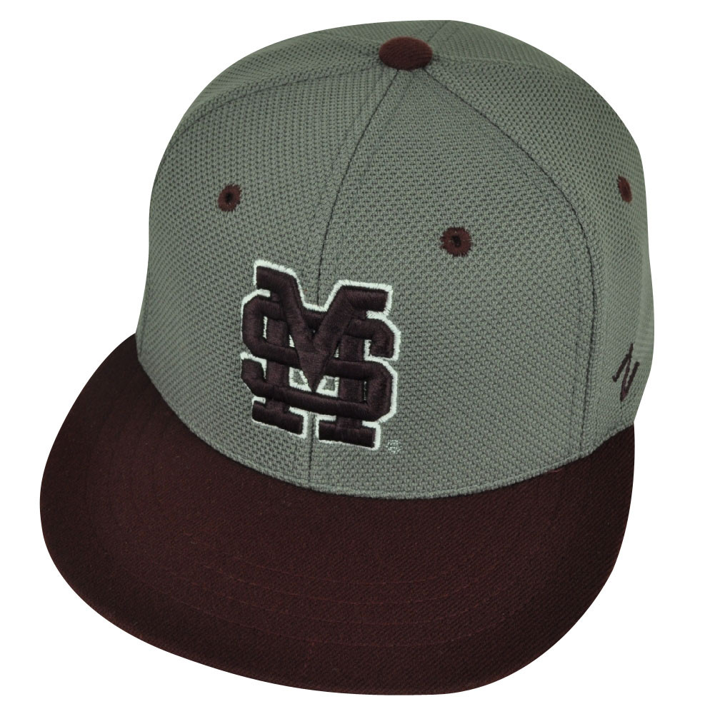 size 40 4914a 8bc1a NCAA Mississippi State Bulldogs Zephyr Flat Bill Hat Cap Fitted ...