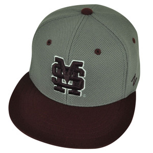 NCAA Mississippi State Bulldogs Zephyr Flat Bill Hat Cap Fitted Medium Large