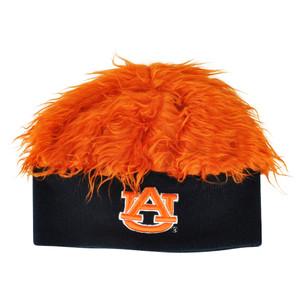 NCAA Auburn Tigers Sizzle Faux Fur Flair Hair Knit Cuffless Beanie Toque Orange