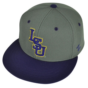 NCAA Louisiana State Tigers LSU Zephyr Flat Bill Hat Cap Fitted Small Two Tone