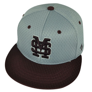NCAA Mississippi State Bulldogs Zephyr Flat Bill Hat Cap Fitted Size Small Gray