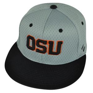 NCAA Oregon State Beavers Zephyr Flat Bill OSU Size Small  Hat Cap Grey Black