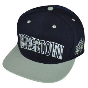 NCAA Georgetown Hoyas American Needle Fitted Size 7 1/2 Flat Bill Hat Cap Navy