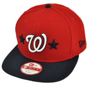 MLB New Era 9Fifty 950 Star Backed Washington Senators Snapback Red Hat Cap
