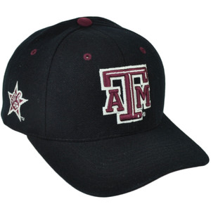 NCAA Colosseum Texas A&M Aggies  Black Sports Hat Cap Adjustable Collage