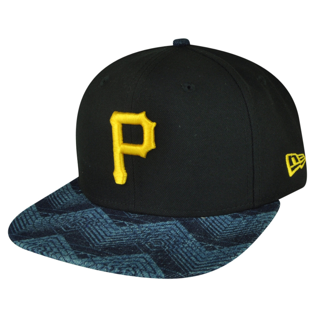 MLB New Era 9Fifty 950 Den Mixer Pittsburgh Pirates Snapback Flat ... 020afb570a1