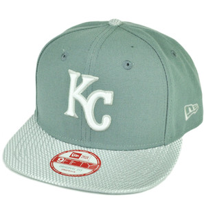 MLB New Era 9Fifty Flash Vize Kansas City Royals Snapback Hat Cap Flat Bill Gray
