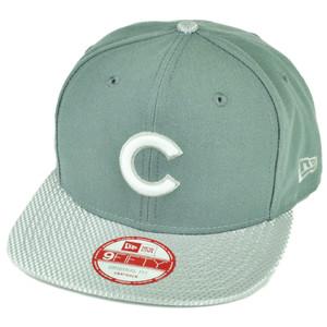 MLB New Era 9Fifty Flash Vize Chicago Cubs Snapback Hat Cap Flat Bill Gray Sport
