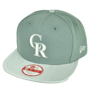 MLB New Era 9Fifty Flash Vize Colorado Rockies Snapback Hat Cap Flat Bill Gray