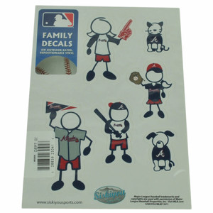MLB Atlanta Brave Family Decal Set Car Small Fan Repositionable Vinyl Automobile