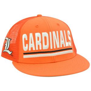 NCAA Louisville Cardinals Cards Mesh Snapback Flat Bill Trucker Orange Hat Cap