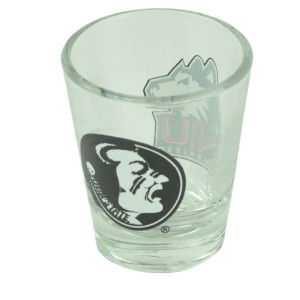 NCAA Northern Illinois Huskies Florida Seminoles Shot Glass Discover Orange Bowl