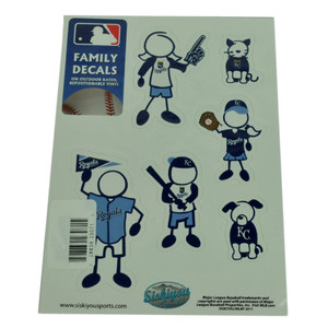 MLB Kansas City Royals Family Decal Set Car Fan Repositionable Vinyl Automobile