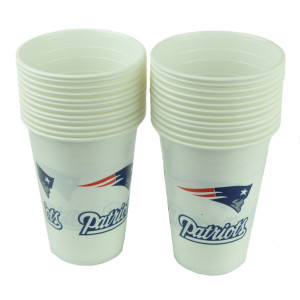 NFL New England Patriots Set of 2 Cups Party Ware Reusable 16oz Picnic White
