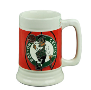 NBA Boston Celtics Ceramic Coffee Mug Cup Gameball Fan Basketball Beverage Drink