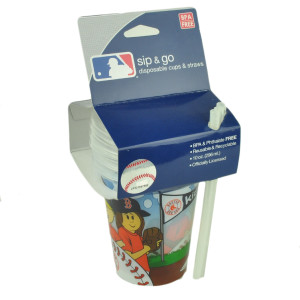 MLB Boston Red Sox Sip N Go Pack of 3 10oz Cups Kids Juice Drinks BPA Free Fan