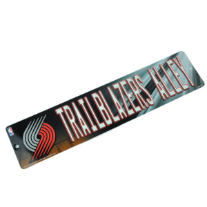 NBA Portland Trail Blazers Alley Plastic Sign Wall Home Decoration Sport Fan
