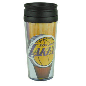 NBA Los Angeles Lakers Acrylic Travel Tumbler 16Oz Mug Coffee Drink Cups Liquids