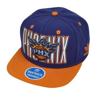 NBA Adidas Phoenix Suns NQ25 Snapback Flat Bill Purple Hat Cap Sport PHX HWC
