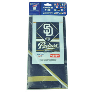 """MLB San Diego Padres Vertical Flag 27""""x37"""" Game Day Red Fan LA Indoor Outdoor"""