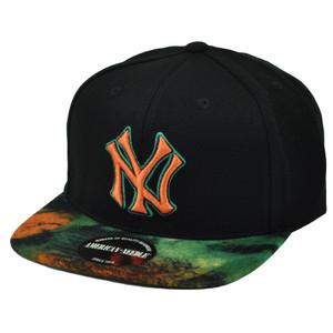MLB American Needle New York Yankees Clip Buckle Flat Bill Adjustable Hat Cap