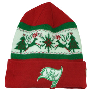 NFL New Era Fillz Tampa Bay Buccaneers Cuffed Knit Beanie Toque Christmas Theme