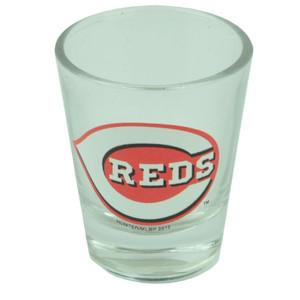 MLB Cincinnati Reds 2oz Printed Logo Shot Glass Alcohol Drinkware Fan Party Spor