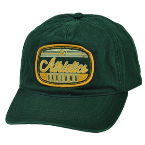 MLB American Needle Oakland Athletics Relaxed Snapback Hat Cap Slouch Green