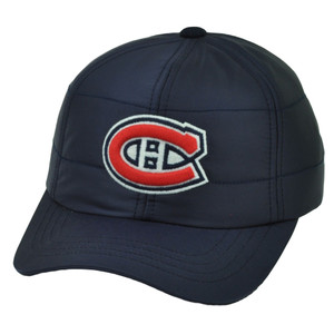 NHL Montreal Canadiens Outdoors Mans Hat Cap Navy Blue Clip Buckle Adjustable