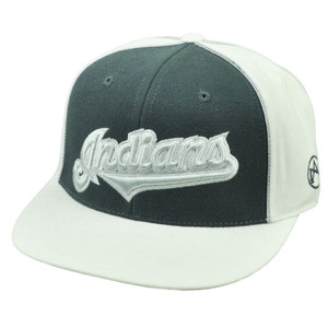 MLB Cleveland Indians Fitted Small Flat Bill Hat Cap Two Tone American Needle