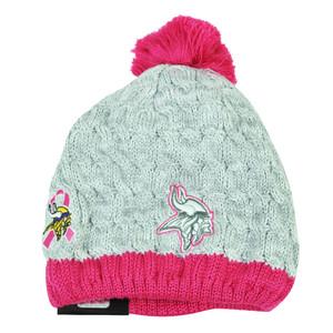NFL New Era Breast Cancer Awareness Knit Beanie Minnesota Vikings Womens Pink Ha