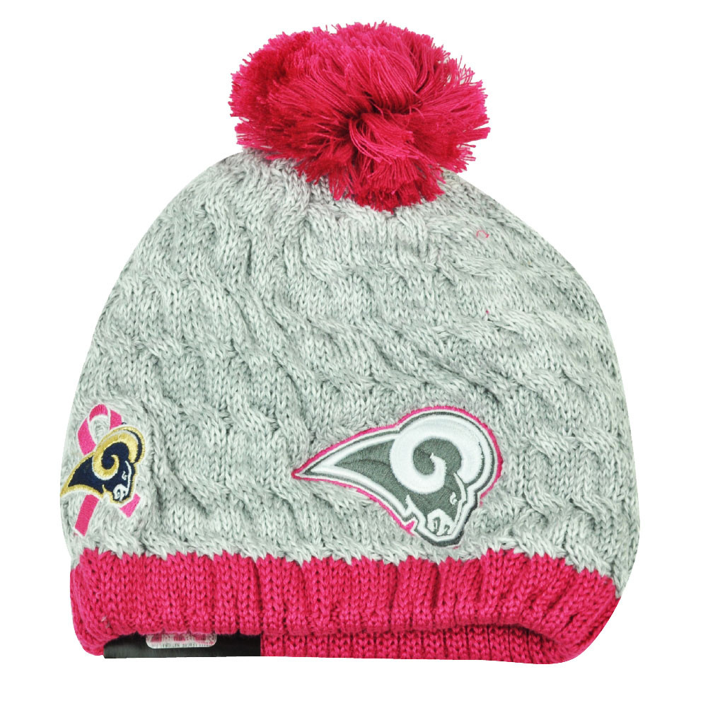 NFL New Era Breast Cancer Awareness Knit Beanie St Louis Rams Pink ... e53d62b573