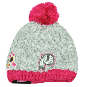 NFL New Era Breast Cancer Awareness Knit Beanie Washington Redskins Pink Womens