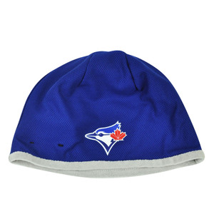 MLB New Era 2015 Tech Knit Beanie Toronto Blue Jays Cuffless Toque Hat Winter