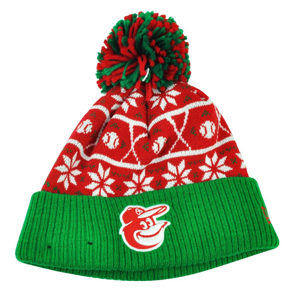 MLB New Era Sweater Chill Baltimore Orioles Pom Pom Cuffed Knit ... 17a35df24cd