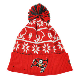 NFL New Era Sweater Chill Tampa Bay Buccaneers Pom Pom Cuffed Knit Beanie Winter