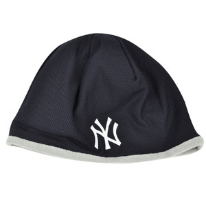 MLB New Era 2015 Tech Knit Beanie New York Yankees Cuffless Toque Hat Winter