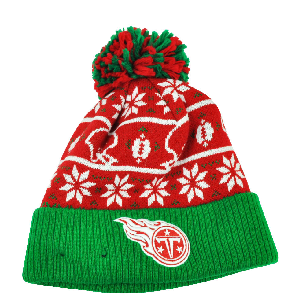NFL New Era Sweater Chill Tennessee Titans Pom Pom Cuffed Knit ... 26500bd6d61