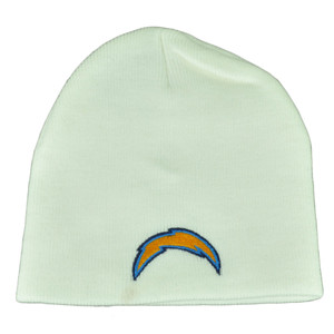 NFL San Diego Chargers Cuffless White Toque Beanie Knit Winter Sport Skully Hat