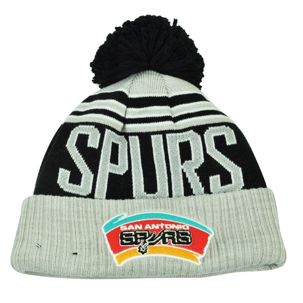 NBA New Era Winter Blaze Pom Pom Cuffed Knit Beanie San Antonio ... f15a566151c